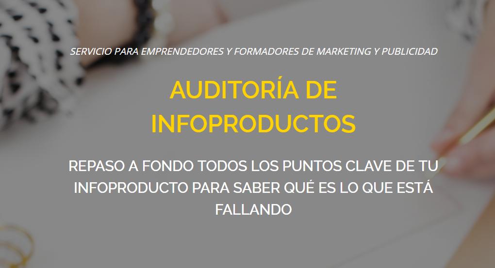 servicio auditoría de infoproductos