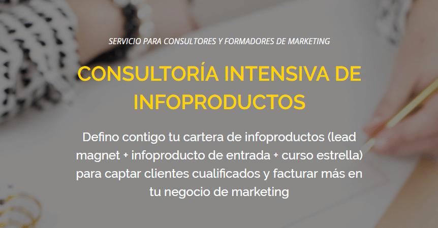 consultoría intensiva de infoproductos
