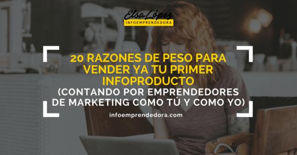 razones vender infoproductos emprendedor marketing