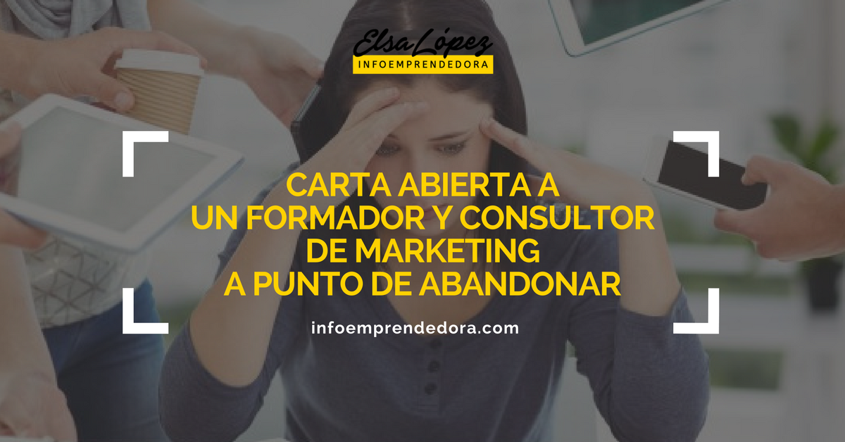 carta abierta formador consultor marketing