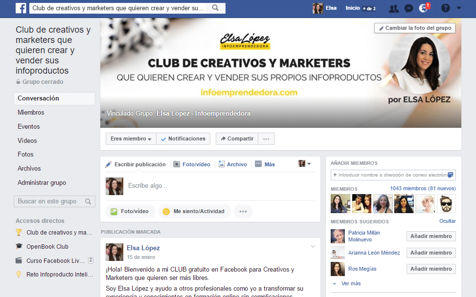 club de infoproductos facebook