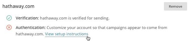 autenticacion mailchimp