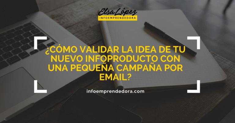 validar idea infoproducto por email