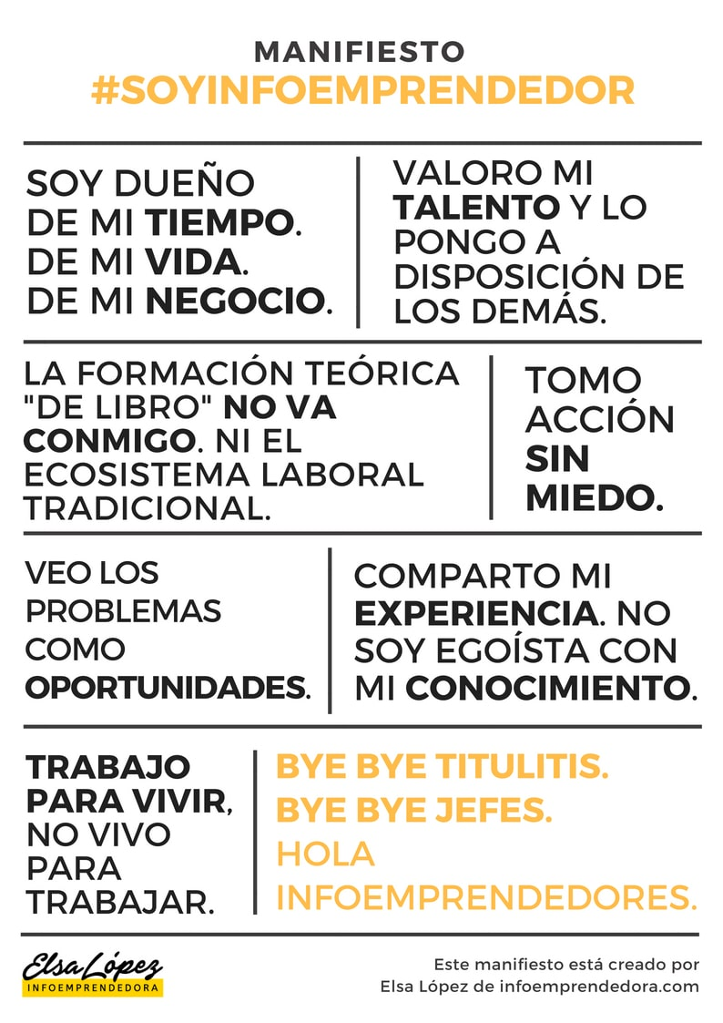Manifiesto SOYINFOEMPRENDEDOR