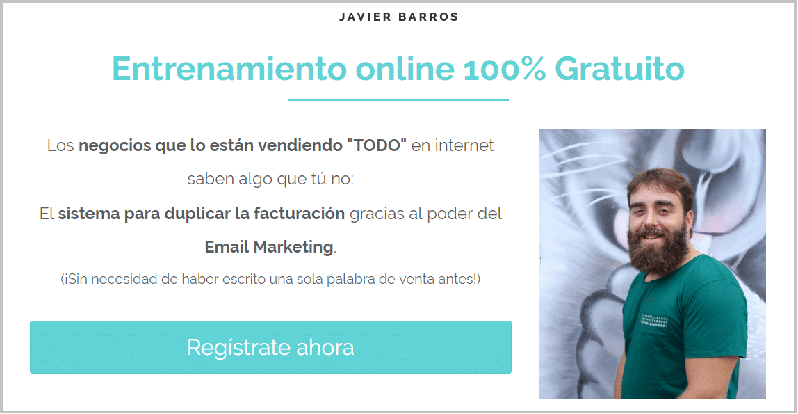 training gratis Javier Barros Email Marketing