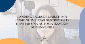 Landing pages de Mailchimp