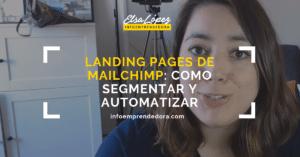 landing pages mailchimp