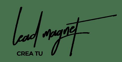 crea tu lead magnet logo trasnparente